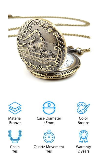 Alienwolf Train Pocket Watch