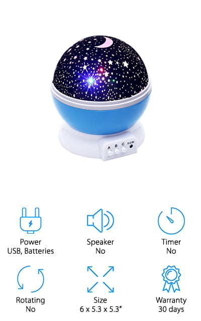 Lizber Moon Star Projector