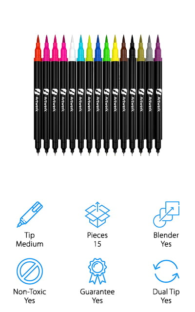 Nylea Brush Marker Pens