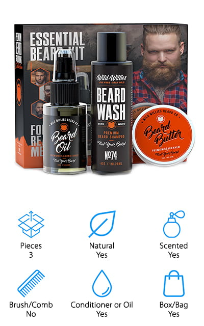 The Manskape Co Beard Kit
