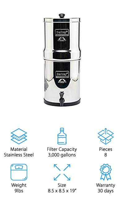 Big Berkey Water Filter System