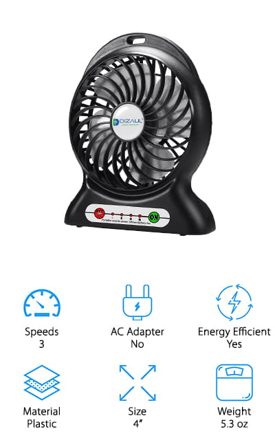 Dizaul Rechargeable Fan