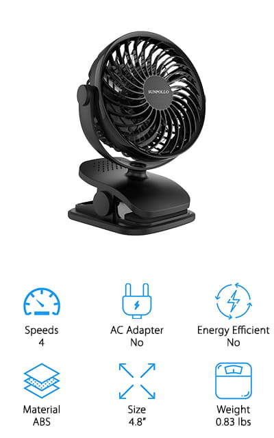 SUNPOLLO Rechargeable Fan