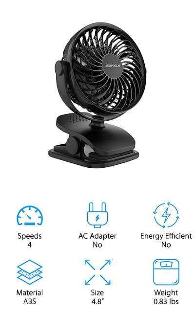 SUNPOLLO Rechargeable Fan