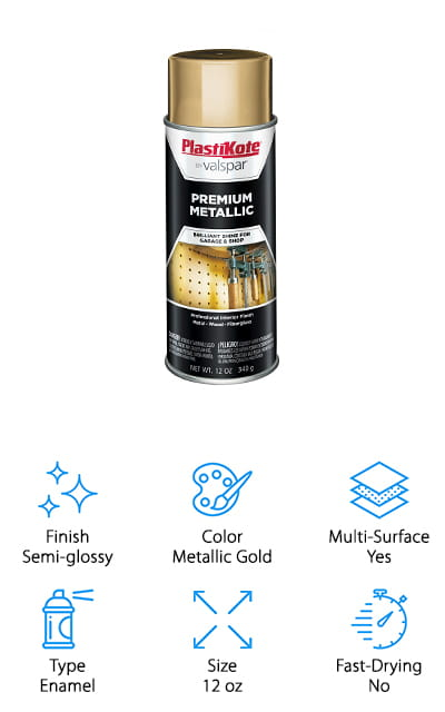 PlastiKote Metallic Gold Enamel