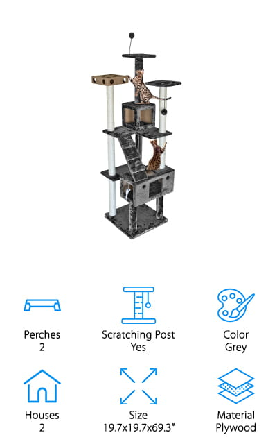 Furhaven Pet Cat Tree House