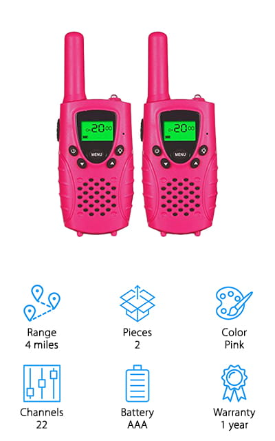 FAYOGOO Kids Walkie-Talkies