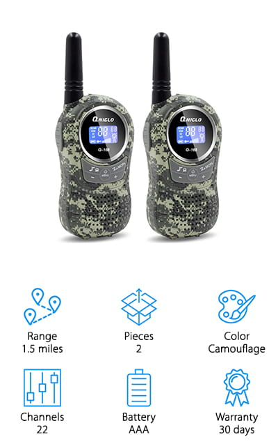 QNIGLO Kids Walkie Talkie