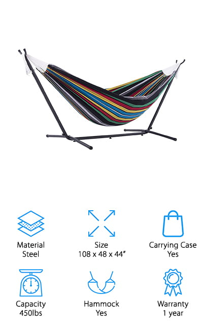 Vivere Hammock with Stand