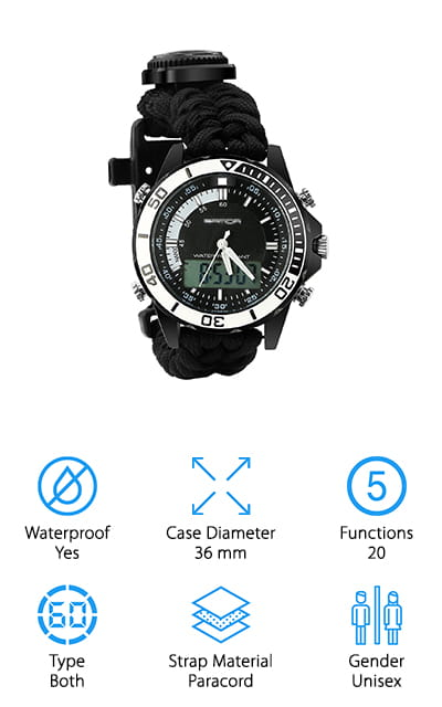BlueStraw Survival Sport Watch