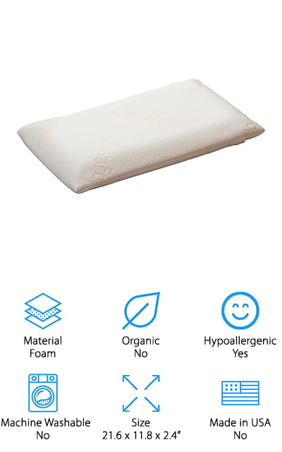 Clevamama Foam Toddler Pillow