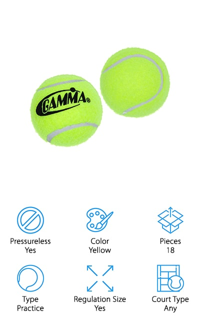 Gamma Pressureless Tennis Balls