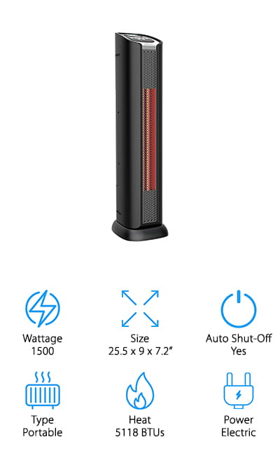 Lifesmart Portable Tower Heater