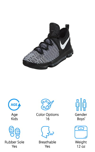 NIKE Kids Zoom Basketball Shoe