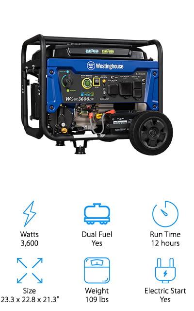Westinghouse 3600DF Generator