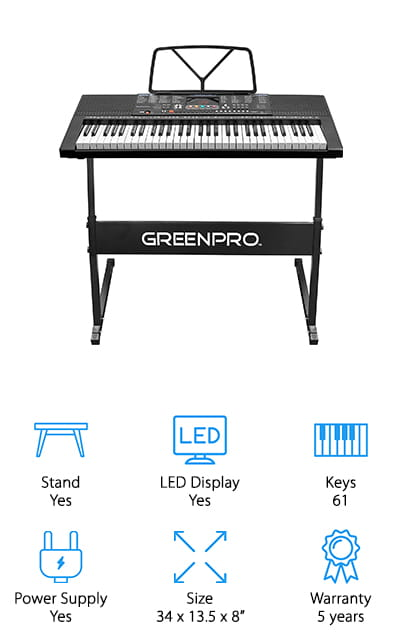 GreenPro Electronic Piano Keyboard