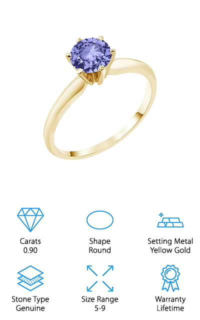 Gem Stone King Tanzanite Ring