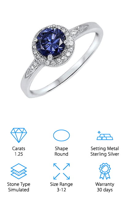 Oxford Diamond Tanzanite Ring