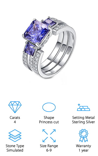 BONLAVIE Tanzanite Engagement Ring