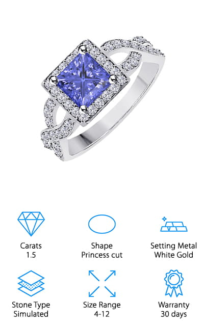 Gems and Jewels Tanzanite Ring