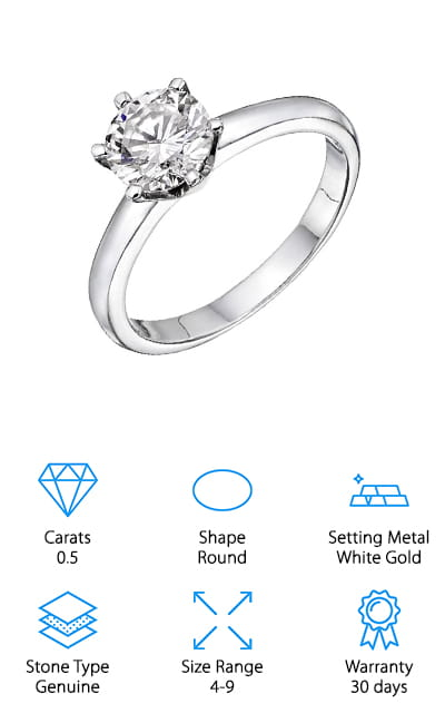 NDSTORE Diamond Engagement Ring
