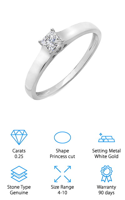 Dazzling Rock Engagement Ring