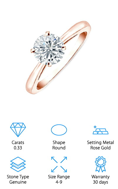 Diamond Wish Solitaire Ring
