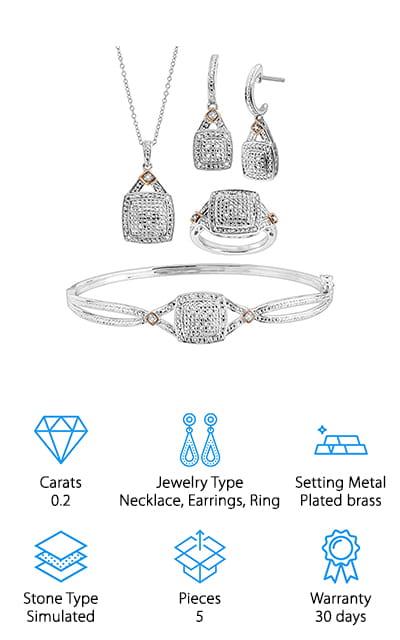 Finecraft Diamond Jewelry Set