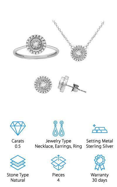 Omega Jewellery Diamond Jewelry Set