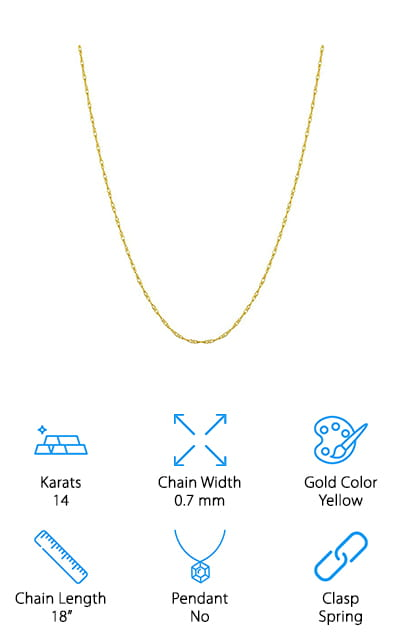 Kooljewelry Solid Rope Chain