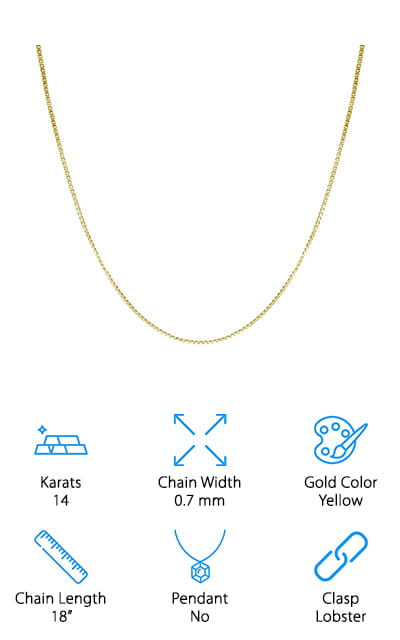 Honolulu Jewelry Co Box Chain