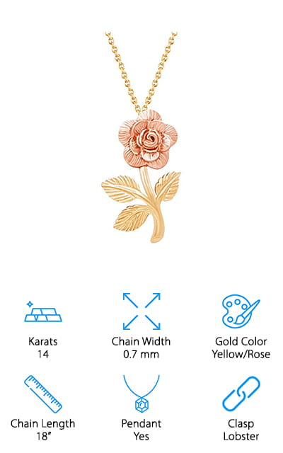 Jewel Connection Rose Necklace
