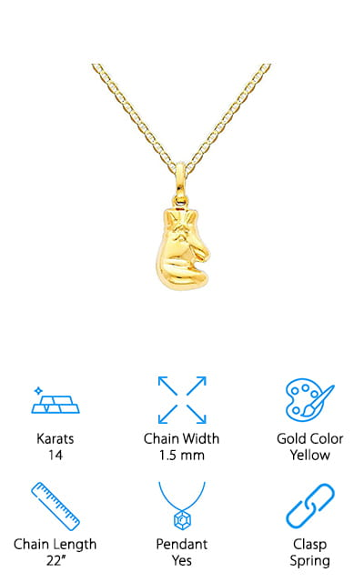 World Jewelry Center Boxing Glove Necklace