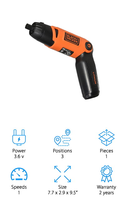 Black + Decker Li2000 Screwdriver
