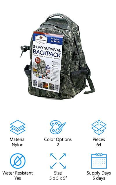 Wise Food Survival Backpack