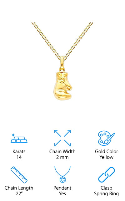 World Jewelry Boxing Glove Necklace