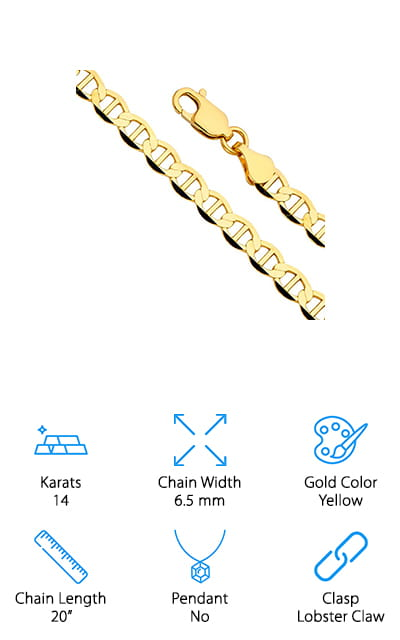 GM Chain Collection Flat Mariner Chain