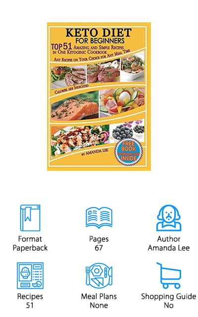 As far as keto cookbooks go, this book is on the slimmer side – but that doesn't make it any less valuable as a resource for your keto experience. There are 51 amazing recipes within the pages of the Keto Diet for Beginners by Amanda Lee. You can enjoy delicious, keto-friendly breakfast, lunch, and dinner recipes, as well as recipes for snacks. Did you ever think that you could have snacks on a diet? Well, with keto, it's even possible to have desserts. This guide not only provides a smaller chunk of recipes that you can digest a little easier, it also includes a guide about the ketogenic diet as a whole, including how to stay with it and still live a fulfilled life with good food. Don't be put-off by the idea of a bland diet that is going to make you miserable. With Keto, you can cut junk food cravings and get healthier without all the dramatics!