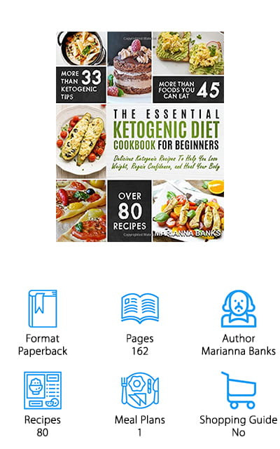 Marianna Banks presents The Essential Ketogenic Diet Cookbook for Beginners, which does all that the title says and more! Inside, you will find just about everything you need to know, including what keto actually is and how it works, the benefits, ketosis and how to maintain that ideal level. It gives you tips to still being able to eat your favorite foods – and enough of them that you aren't constantly crazed for food or obsessed with every ad that comes on your television. It includes a section of frequently asked questions, common mistakes, tips for eating out while maintaining your keto lifestyle. Unique to this book is a section on the famed 'keto flu' and how to get past this difficult period of the diet. Plus there are 80 neat recipes and a meal plan included! What more could you ask for from a ketogenic diet book? Everything you need to know is right here – it's that simple!