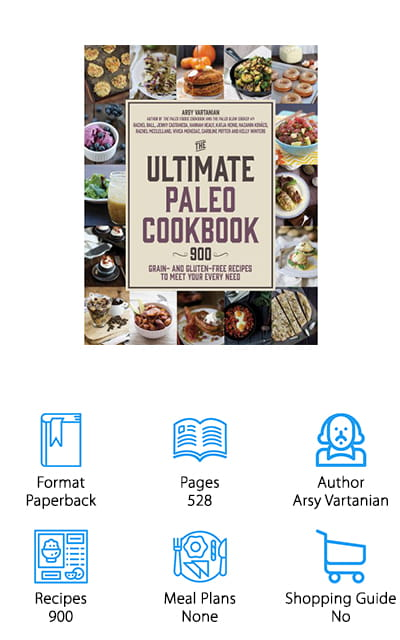 Move over, competitors! The Ultimate Paleo Cookbook is coming through with an absolutely staggering 900 recipes to boost your home menus. And with that many recipes, you better believe there is a ton of variety! That's because this isn't the work of one person. Ten Paleo bloggers have contributed each taking about 80 of their favorite recipes and writing 10-20 of their own. Together, that's a total of over 900 recipes that they're sharing with you. It doesn't just add to your collection of recipes at home – it's the core of it! There are definitely recipes here for every occasion. You can get slow cooker meals, weeknight dishes you can throw together, and there's an entire chapter devoted to making this diet as easy as it possibly can be. We love the amazing variety and expansive selection of sensational recipes! You'll never run out of things to make, and you'll never have to buy another cookbook!