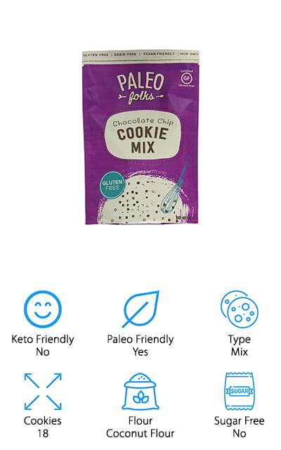 This cookie mix by Paleo Folks is made with followers of the Paleo diet in mind! They use coconut flour as a base and don't add any processed or unnatural foods. The mix is non-GMO certified, so you know that everything is based on some form of plant. Plus, it's all organic, from the cane sugar to the cocoa butter. We love these low carb coconut flour cookies! They taste like the unhealthy, traditional version, but without any of the soy, dairy, grain, gluten, or even refined sugar. This mix is easy to make and bakes up quickly – up to 18 perfectly-sized cookies. The chocolate chips included are even fair-trade certified, so you can eat them without any type of guilt. But by far the best thing about these cookies is the taste – you can hardly tell that these coconut flour cookies are low-carb at all! Dive right in and make a plate of cookies for your whole family!
