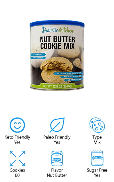 Diabetic Kitchen Nut Butter Cookie Mix