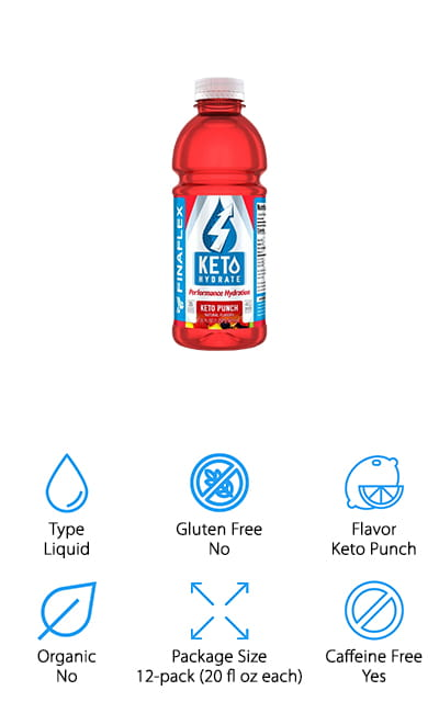 This keto-based electrolyte drink is tasty and good for you! It's available in keto punch as well as keto orange, and this order will net you a 12 pack of your preferred flavor. There are 4 grams of BHB salts in each serving, which will help you stay in ketosis and boost your energy levels. It encourages your body to burn fat at the same time that is using the 4 essential electrolytes to keep you hydrated and performing at your peak. These electrolytes include potassium, sodium, magnesium, and calcium – all of which work with your muscles to help them contract and relax. It's one of the best electrolytes for runners because it also helps your muscle to recover after the workout. Your body will take this formula and use it as a primary energy source, so you can definitely be sure that you're getting your best and most effective workout. We love that it's ready to go!