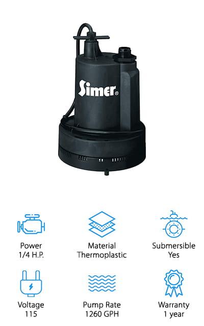 Simer Geyser Utility Pump