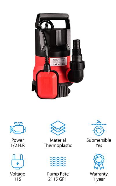 Homdox Sump Pump