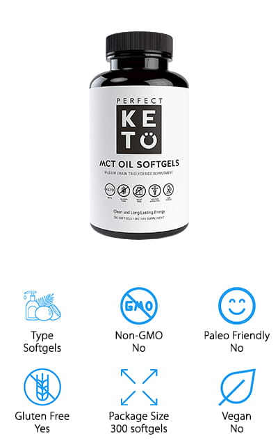 Perfect Keto MCT Oil Capsules
