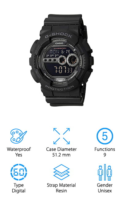Casio G-Shock Reverse LCD Watch
