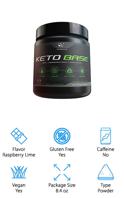 This powder by Vivorigins is delicious and effective, and it's probably one of the best ketone supplements on our list. Get a quick increase to your blood ketone levels, which propel your body into a state of ketosis that is vital and essential for success on the ketogenic diet. This keto product contains no carbs, no caffeine, and no sugar. There are also no fillers in this powder – it's pure and effective, with no artificial colors or flavors. The raspberry lime flavor is delicious and comes straight from natural sources. It mixes great with any cold drink, and won't leave behind any residue – and on top of that, there are no fillers in the powder, so it has a great texture that you won't mind drinking. One of the best things about this powder is that it's completely risk-free – you can get a refund if you aren't completely satisfied with these ketogenic supplements. You have nothing to lose!