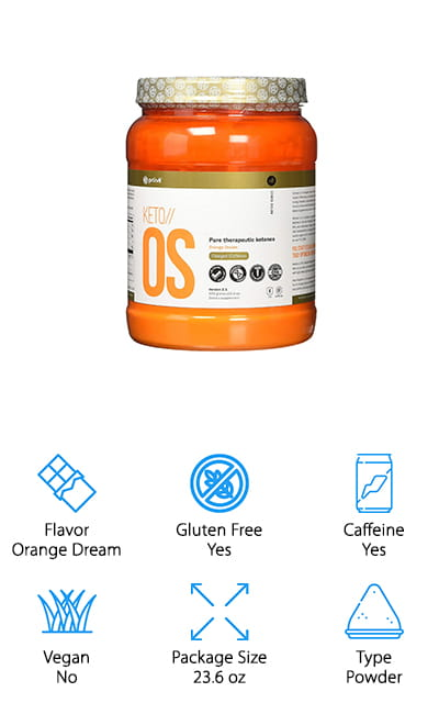 KETO//OS by Pruvit is back on our list, but this time in the larger container – and with more to offer. This delicious orange dream flavor will make taking these ketone supplements a delightful experience! It's full of healthy fats that will get your body into that state of ketosis for maximum health and fat burning capabilities. Raise your blood ketone levels and experience sustained energy levels and ketosis benefits, including mental focus and an emphasis on productivity. It's also an excellent anti-inflammatory, which is helpful in a variety of situations. You get 30 servings in this tub, which is amazing – with the recommended daily intake, that will last you a whole month! Use it in your morning coffee to accelerate that great morning wake-up feeling, and use it to knock out all of your tasks for the day. We love the concentration of ketone supplements found in this powder. It's never been easier to stay in ketosis!