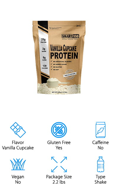 Last on our list is this delicious shake mix. In the flavor of a vanilla cupcake, you aren't going to want to stop drinking it! It's full of 25 grams of protein, as well as 5 grams of carbs and only 130 calories per serving. There's also 1.5 grams of fat. It's a nutritious shake that's packed full of protein! But it's also gluten free, as well as free of soy, sugar, and no artificial sweeteners. It's the perfect and delicious mixture to get all of the things you need to help with your keto diet! It's great for digestive health because it doesn't contain any of the whey that would make you bloat. Plus, it contains a healthy dose or probiotic enzymes to help your tummy upset! It's a natural supplement that's sourced from right here in the USA, so you can be sure that the ingredients are never from China. We love it!